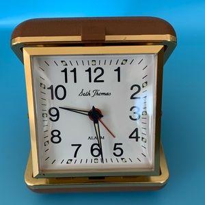 Vintage Seth Thomas Travel Alarm Clock Wind Up